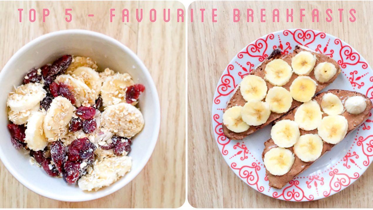 Top 5 de mes petits-déjeuners préférés