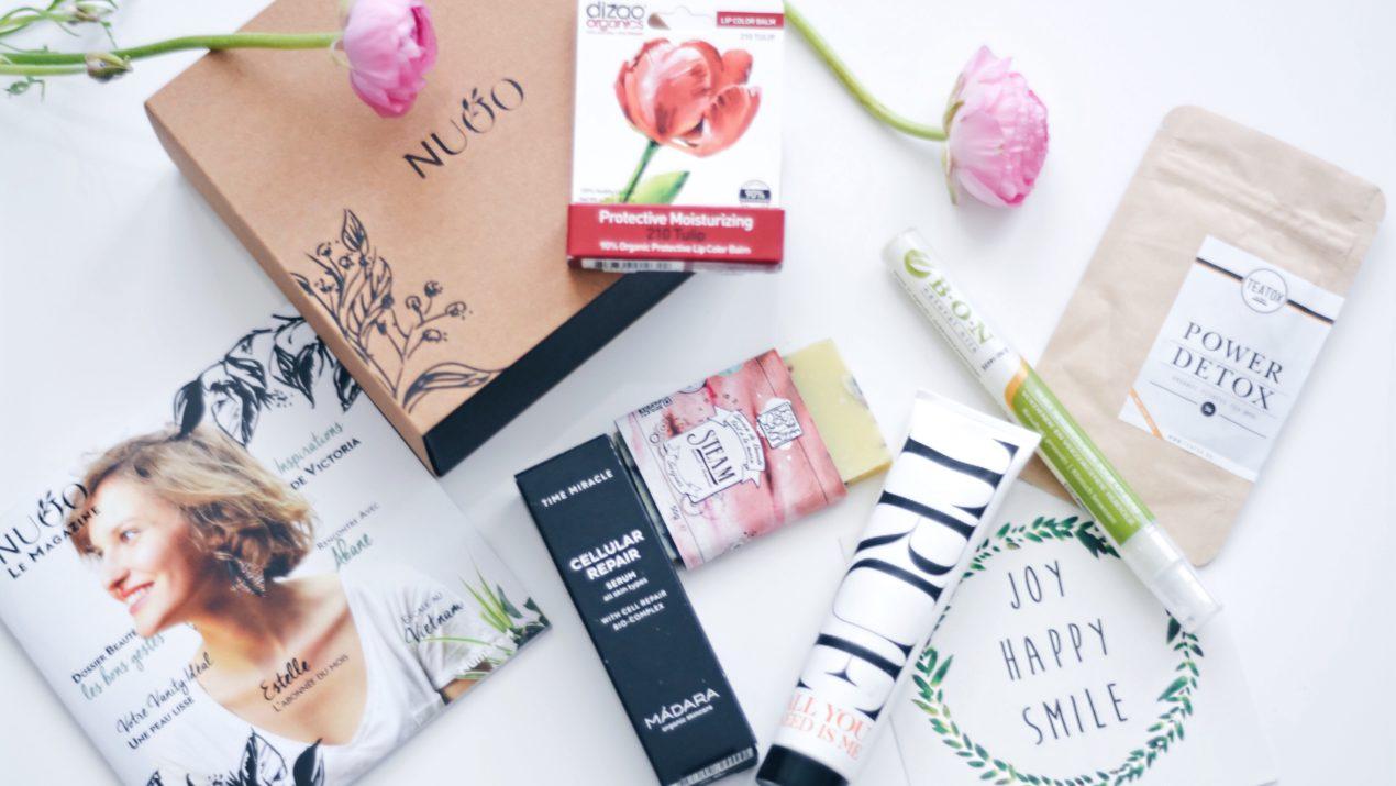 Revue : Nuoo box, la box beauté bio qui cartonne (édition de février 2016)