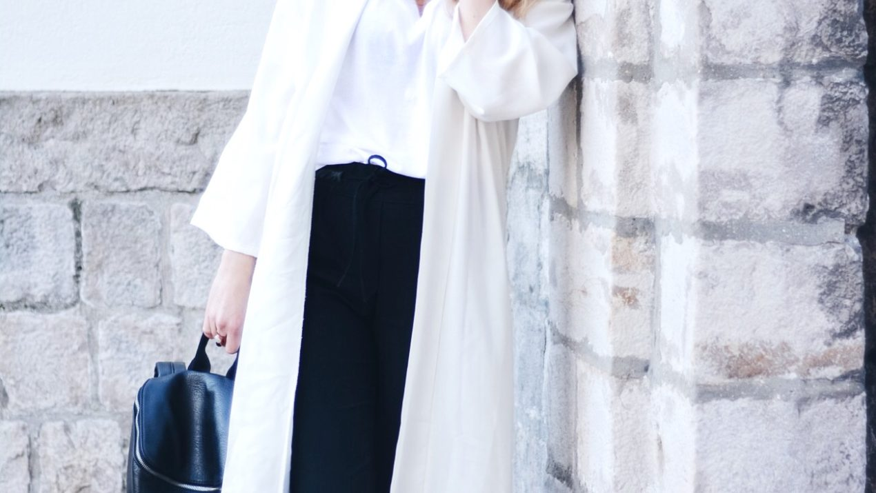 ECOFRIENDLY & VEGAN OUTFIT : BLACK & WHITE