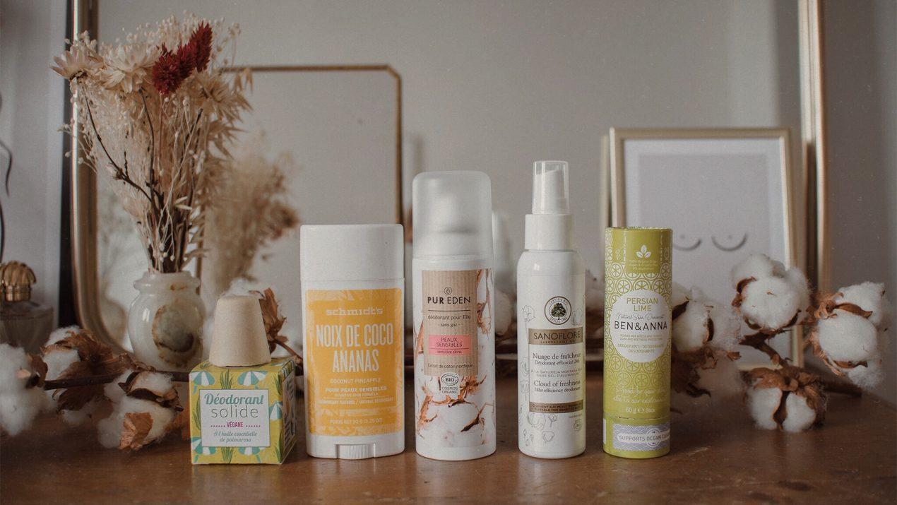 5 déodorants naturels au banc d'essai (test et avis)