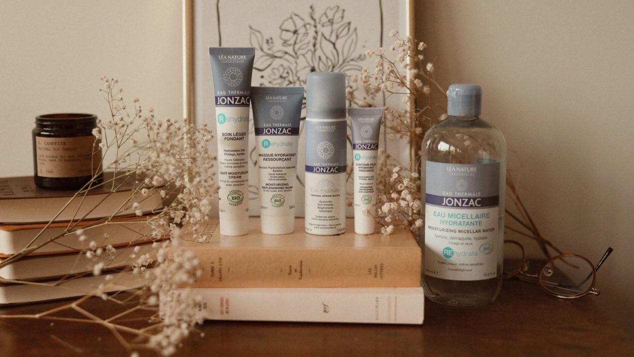 Une peau apaisée et hydratée en profondeur grâce à la routine de soins visage Eau Thermale Jonzac® (revue produits)